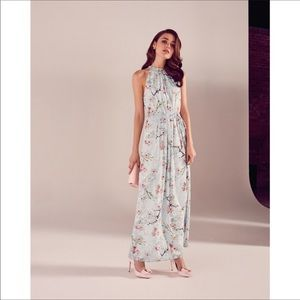 Ted Baker Elynor Oriental Blossom Maxi Dress SZ 0